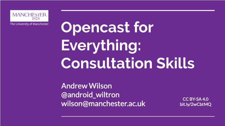Opencast for Everything with link to slides in Google docs
